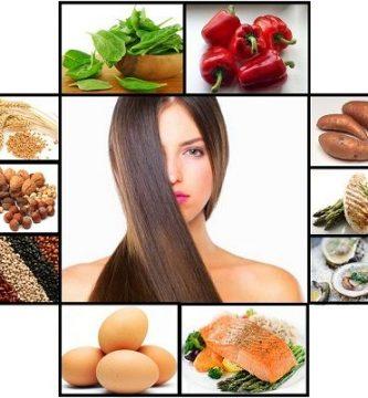 Alimentos naturales para el cabello