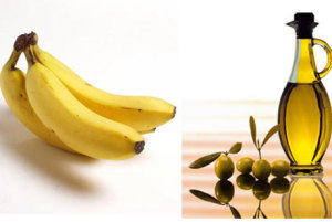 Platano - banana y aceite de oliva natural
