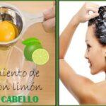 Mascarilla de huevo y limon para el cabello