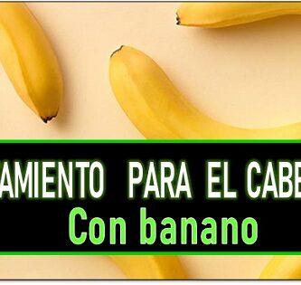Tratamiento para el cabello con banano