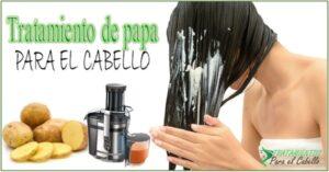 Tratamiento para el cabello con jugo de papa